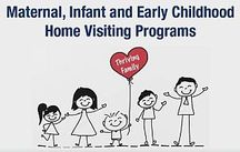 maternal, infant, and early childhood home visiting programs: stick family holding a heart balloon