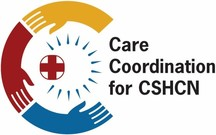 logo of the care coordination for cshcn challenge (three hands in a circle)