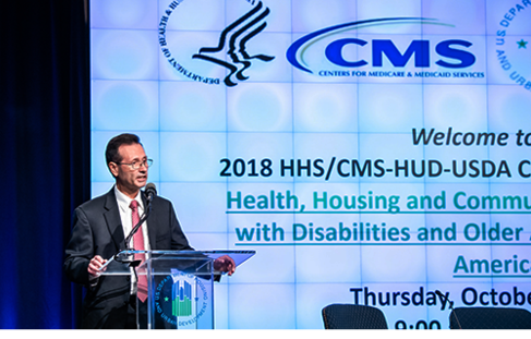 Dr. George Sigounas, HRSA Administrator, addressed a joint meeting on Thurs., Oct. 11 of Social Security, Housing and Agriculture Department officials