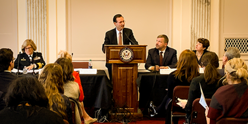 HRSA Administrator George Sigounas, MS, Ph.D. briefs Congress