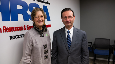 Peace Corps Director Dr. Jody Olsen met with HRSA Administrator Dr. George Sigounas on Jan. 10