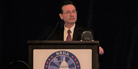 HRSA Administrator Dr. George Sigounas met with the National Rural Health Association Policy Institute