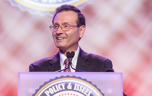 HRSA Administrator George Sigounas, MS, Ph.D. speaks at NACHC