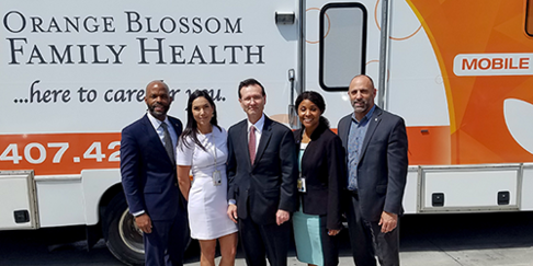 HRSA Administrator Dr. George Sigounas visited Health Care Center for the Homeless (HCCH) in Orlando, Fla. earlier this month
