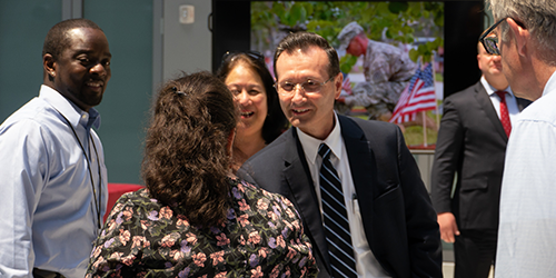 Administrator Dr. George Sigounas greeted agency veterans during Memorial Day observances on May 29