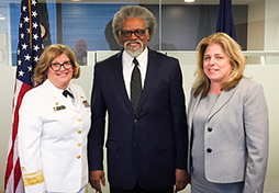 RADM Kerry Nesseler, OGH, and Deputy Administrator Diana Espinosa welcome Dr. Groesbeck Parham