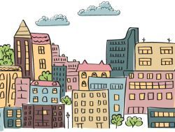 clipart of a cityscape