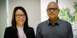 HRSA senior scientist and health equity advisor Gopal Singh (OHE) and economist Claire Lin (OPAE)