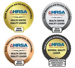 image of four hrsa health center quality badges