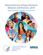 cover of the national survey on organ donation attitudes and practices, 2019