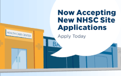 Now accepting new nhsc site applications