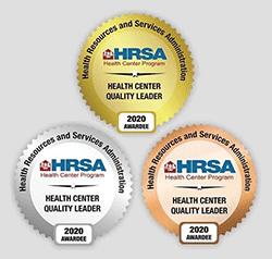 HRSA Health Center Quality Improvement Awards Badges