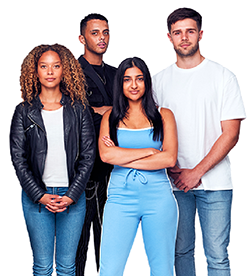 stock photo of four young adults