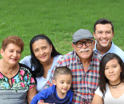 A photo of several people of Hispanic heritage