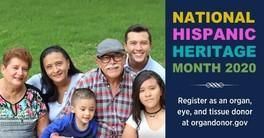 Hispanic Heritage Month Organ Donation