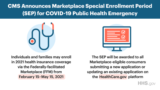 CMS announces marketplace special enrollment period for COVID-19 public health emergency