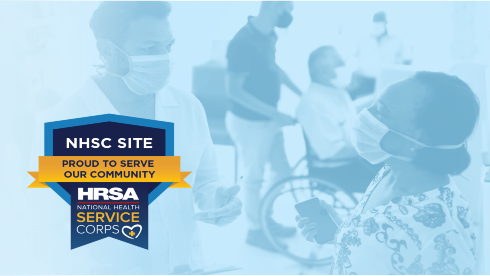 NHSC site application extension graphic