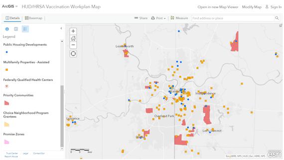 HUD/HRSA Vaccination Workplan Map