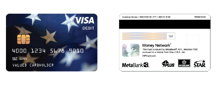 EIP Debit Card Image