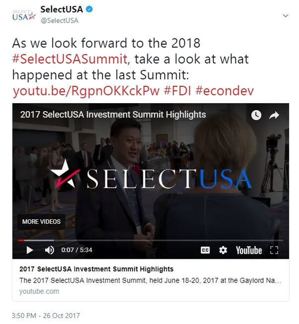 As we look forward to the 2018 #SelectUSASummit, take a look at what happened at the last Summit...