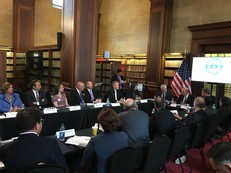USDOC Secretary Ross, Under Secretary Kaplan, and DAS Steff meeting with the fourth charter of the REEEAC on May 10, 2018