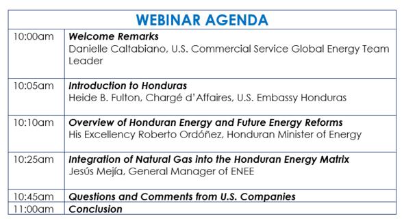Honduras Webinar Agenda