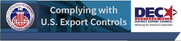 Export Compliance event banner