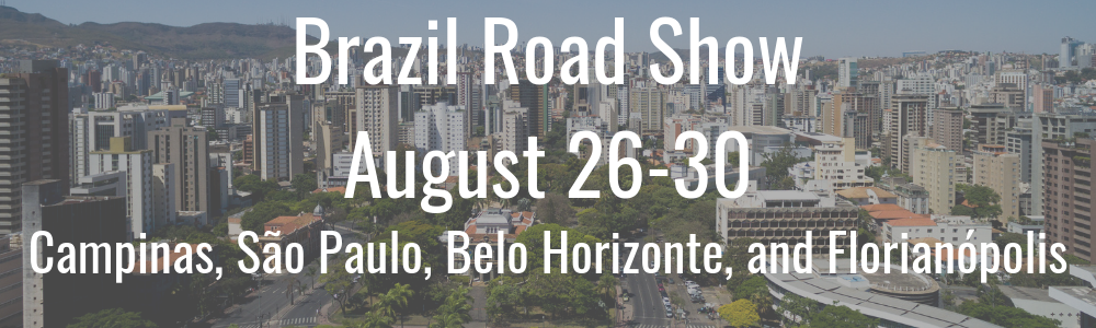 SelectUSA 2019 Brazil Road Show - August 26-30 - Campinas, Sao Paulo, Belo Horizonte, and Florianopolis