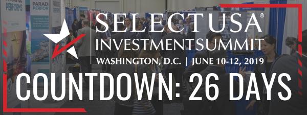2019 SelectUSA Investment Summit countdown: 26 days