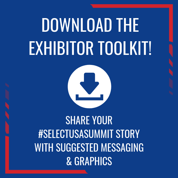 Share your #SelectUSASummit story with suggested content and graphics