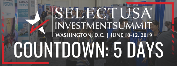 The 2019 SelectUSA Investment Summit countdown: 5 days