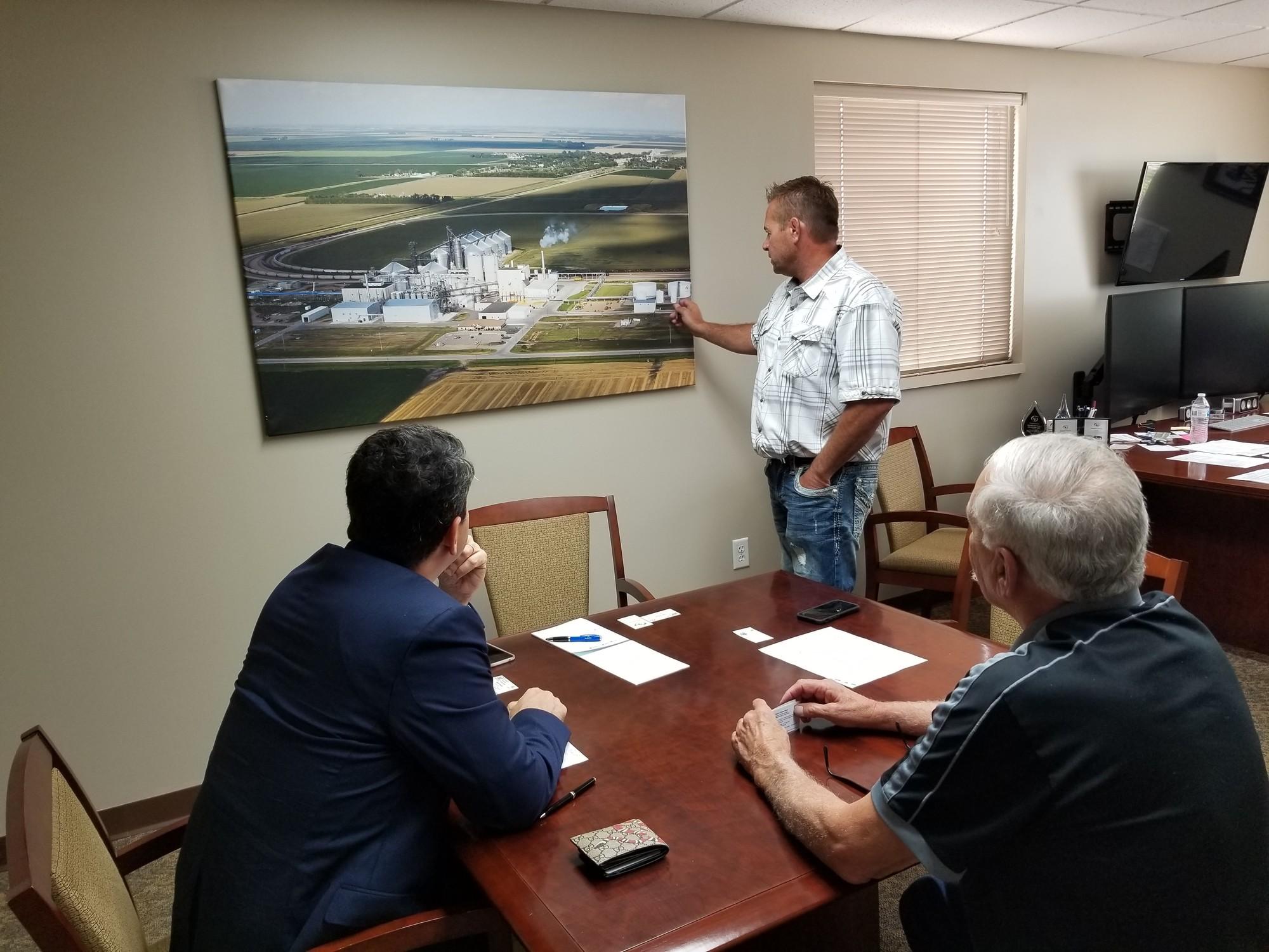 Paulo visiting Tharaldson Ethanol
