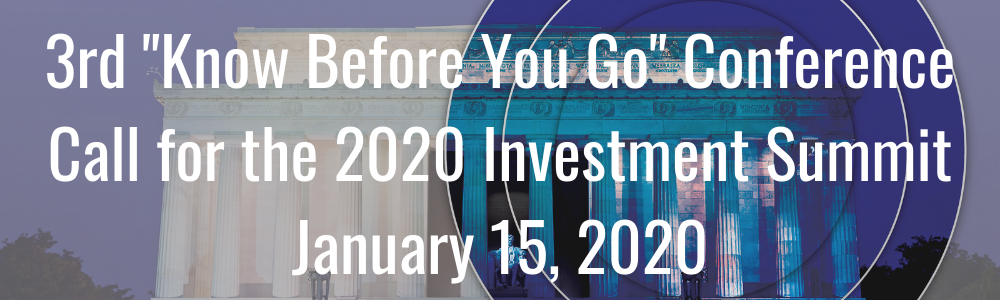 "3rd ""Know Before You Go"" Conference Call for the 2020 Investment Summit - January 15, 2020"