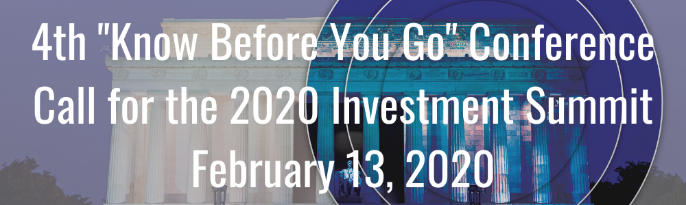 "4th ""Know Before You Go"" Conference Call for the 2020 Investment Summit - February 13, 2020"