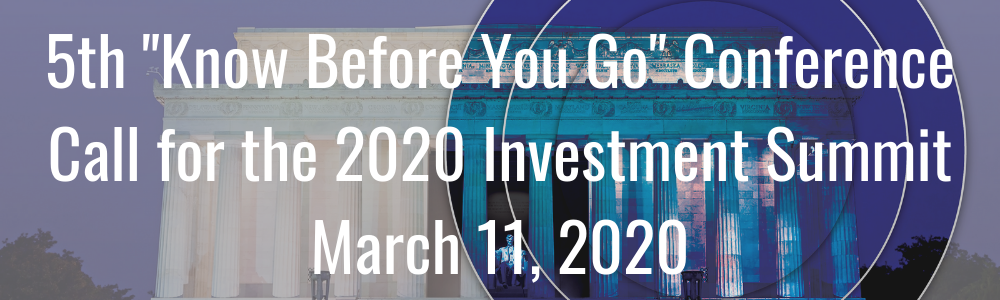"5th ""Know Before You Go"" Conference Call for the 2020 Investment Summit - March 11, 2020"