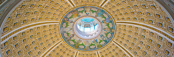 Interior dome of the Main Reading Room, Thomas Jefferson Building