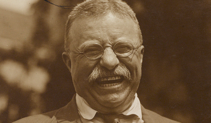 President Theodore Roosevelt is shown in 1910 after he had left the White House (detail).