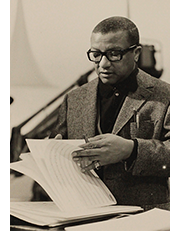 American jazz composer, pianist, lyricist and arranger Billy Strayhorn