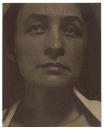 Georgia O'Keeffe as photographed by Alfred Stieglitz in 1919. Library of Congress Prints & Photographs Division