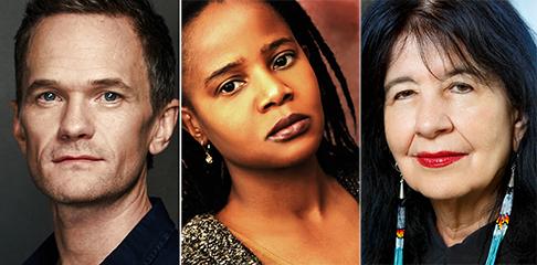 Neil Patrick Harris, Edwidge Danticat, Joy Harjo