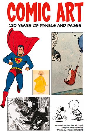 Comic Art exhibition brochure cover
