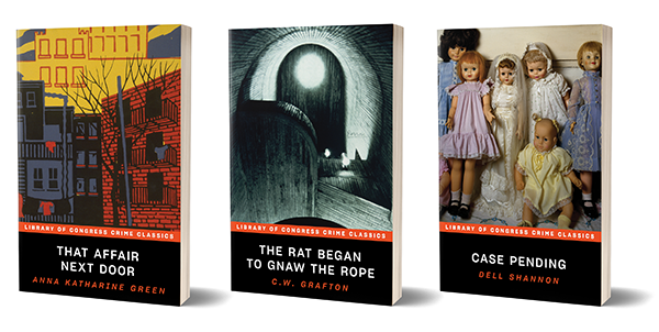 Three titles will launch the Library of Congress Crime Classics Series in spring 2020.