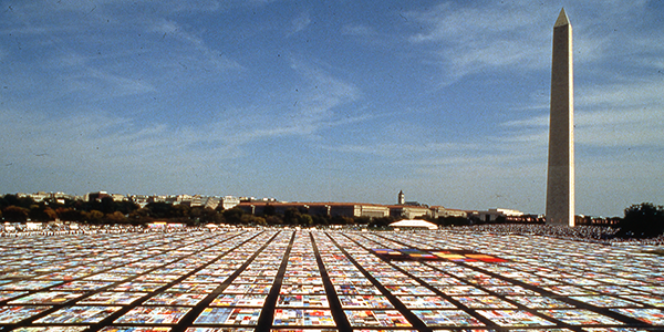 Image of AIDS Memorial Quilt on National Mall, Washington, D.C.