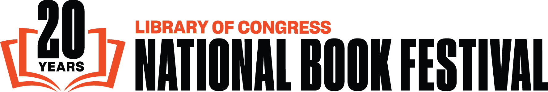 "Graphic banner with text, ""20 years Library of Congress National Book Festival"""