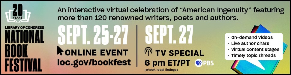 Banner graphic promoting the 2020 National Book Festival