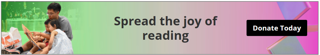Spread the joy of reading click-through banner to support the Library of Congress