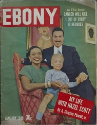 Cover of Ebony magazine from 1949 featuring a Black family