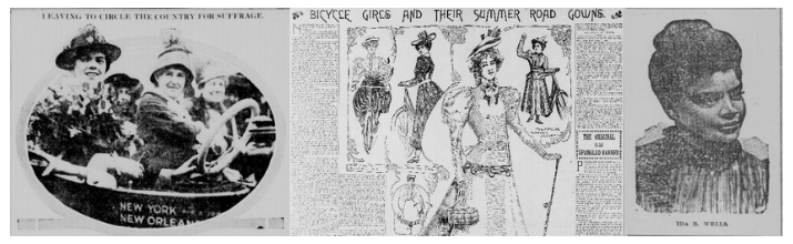 Women in historical newspapers