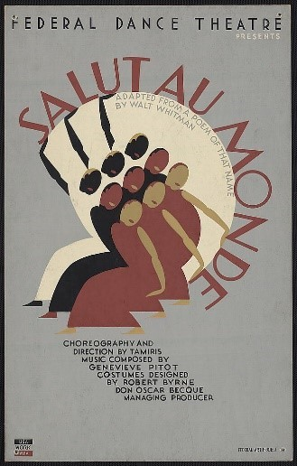 Poster of figures dancing from the Federal Dance Theatre