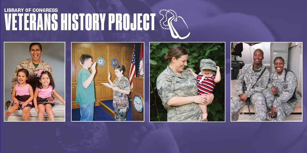 Veterans History Project: image of military moms with their children
